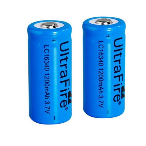 2x batteries Ultrafire 16340